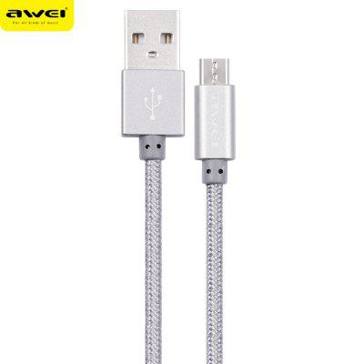 Awei CL - 10 Micro USB Nylon Braided Charging Data Cord