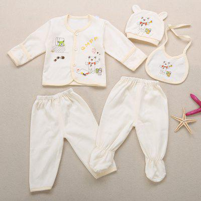 Babies Cute Cartoon Print Candy Color 5 Piece Setbaby clothing sets<br>Babies Cute Cartoon Print Candy Color 5 Piece Set<br><br>Closure Type: Single Button<br>Collar: Round Neck<br>Fabric Type: Broadcloth<br>Gender: Unisex<br>Material: Cotton Blend<br>Package Contents: 1 x Blouse, 1 x Hat, 1 x Footed Pants, 1 x Pants, 1 x Saliva Towel<br>Season: Autumn<br>Sleeve Length: Full<br>Thickness: Thin<br>Weight: 0.1740kg