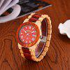 Bewell ZS - W109B Quartz Men Watch - MAPLE WITH RED SANDALWOOD