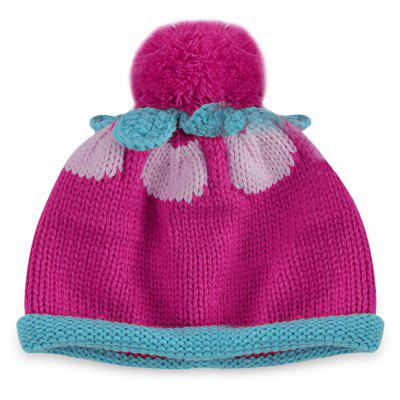Babies Color Block Pom Pom Hat