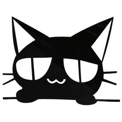 Car Black Cat Sticker