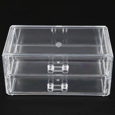 2 Layers Acrylic Cosmetic Organizer Drawer Storage Box