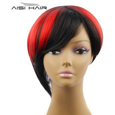 AISIHAIR Short Side Bangs Wigs Synthetic Hair for Women