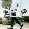 GBtiger A3 Electric Scooter Two-wheel Folding Board with Lamp - WHITE