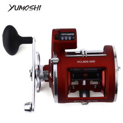 YUMOSHI 12 Ball Bearings Fishing Reel with Electric Depth Counting Multiplier