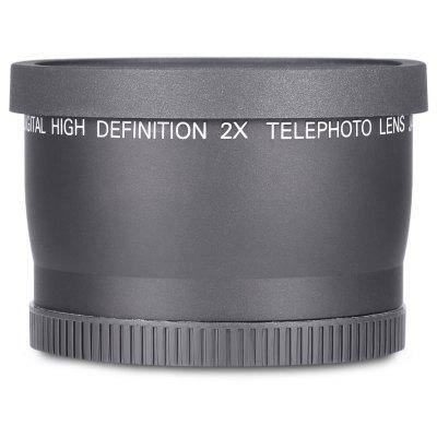 58MM 2X Teleconverter Lens for DSLR Camera