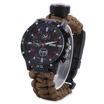EMAK Outdoor Survival Watch Bracelet