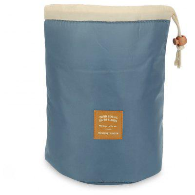 Barrel Travel Cosmetics Polyamide High Capacity Drum Cord Elegant Organizer Storage Bag