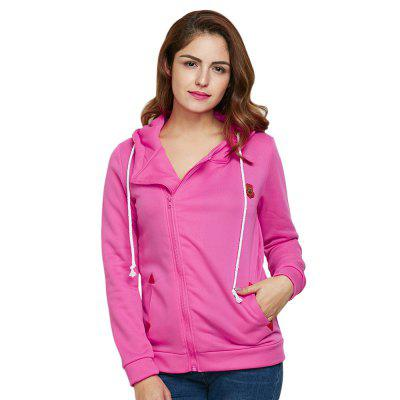 Trendy Drawstring Zipper Type Women Coat