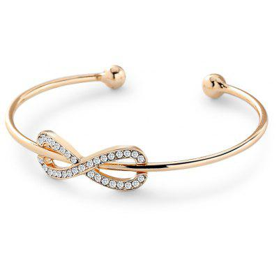 Women 8-character Diamond-studded Alloy Open Bracelet