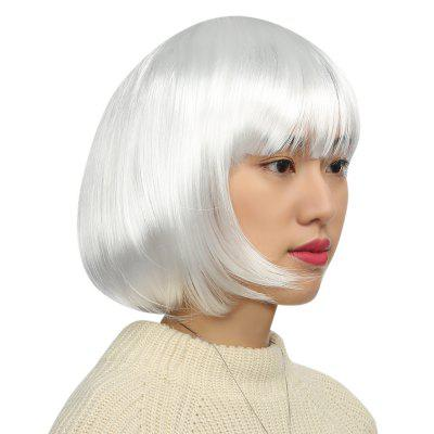 Women Short Bob Wigs Cosplay Party CostumeSynthetic Wigs<br>Women Short Bob Wigs Cosplay Party Costume<br><br>Bang Type: Side<br>Cap Size: Adjustable<br>Gender: Female<br>Length: Medium<br>Length Size(CM): About 30<br>Length Size(Inch): About 11.8<br>Material: P / K Wire<br>Net Type: Buckle Net<br>Package Contents: 1 x Hair Wig<br>Package size (L x W x H): 14.00 x 10.00 x 5.50 cm / 5.51 x 3.94 x 2.17 inches<br>Package weight: 0.139 kg<br>Product weight: 0.118 kg<br>Source: Chinese Hair<br>Style: Natural Straight<br>Type: Full Wigs