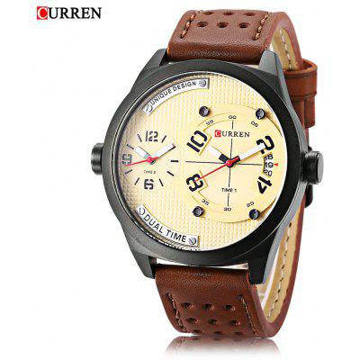 Curren 8252 Mâle Double Quartz Movt Montre