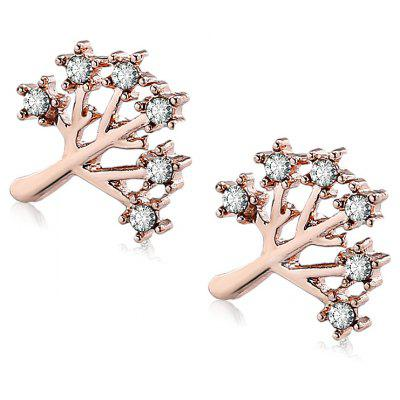 Ladies Superior Alloy Christmas Tree Stud Earring