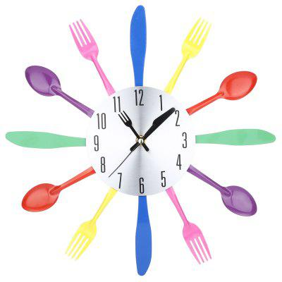 Fork Spoon Knife Kitchen Cutlery Wall Clock