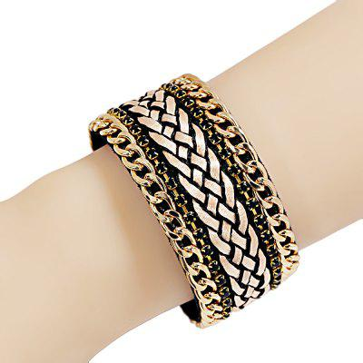 Long Magnetic Buckle Velvet Diamond Bohemian Bracelet