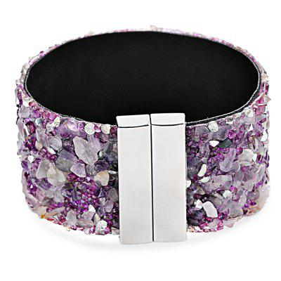 Long Magnetic Buckle Cashmere Bracelet for Girls