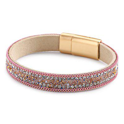 Velvet Leather Inlaid Magnetic Buckle Bracelet