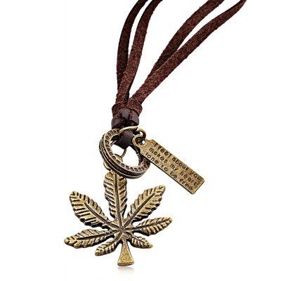 Leaf Embellishment Ladies Pendant Necklace