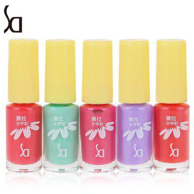 SD 5pcs / Set Peeled Friendly Water-based Nail Polish Kit