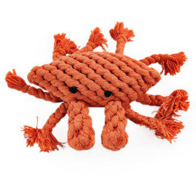 Pet Rope Toy Durable Chew Crab Cotton Knot for Dog
