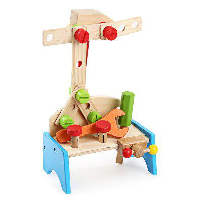 Youlebi Wooden Tool Table Set Child Intelligent Toy