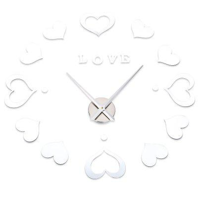 M.Sparkling Heart Shape Sticker DIY Digital Clock Home Decor