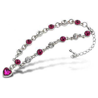 Women Heart Shape Diamond Bracelet
