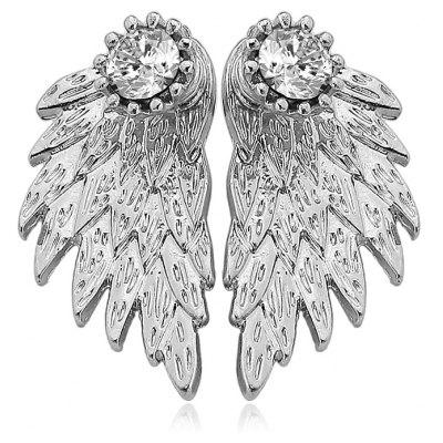 3D Diamond Alloy Angel Wing Earrings for Ladies