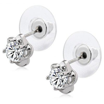 Women Wintersweet Shape Platinum Plated Earrings