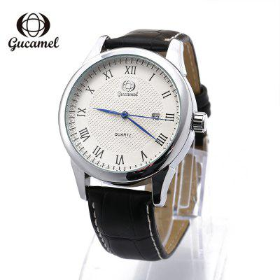 Gucamel B028 Men Quartz Leather Band Watch