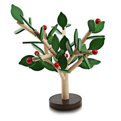 Youlebi Wooden Tree Leaf Puzzle Child Intelligent Toy
