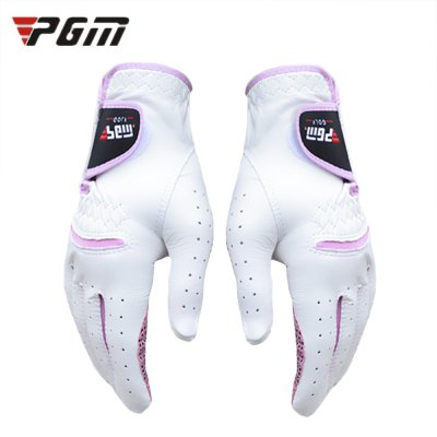 PGM Paired Women Golf Soft Kidskin Anti-skid Gloves