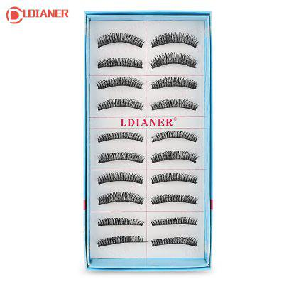 LDIANER Extension 10 Pairs Long Cross Thick Fake Eyelashes
