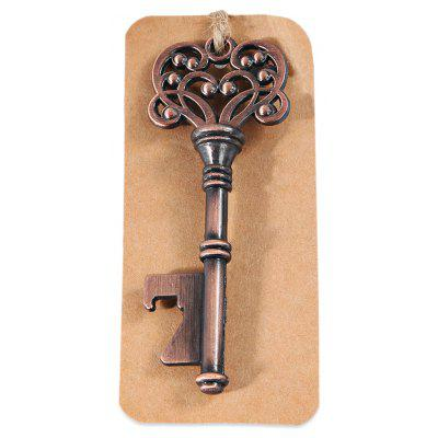 Stylish Key Shaped Beer Bottle Opener with Sunflower Pattern