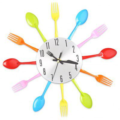 Fork Spoon Kitchen Cutlery Wall Clock