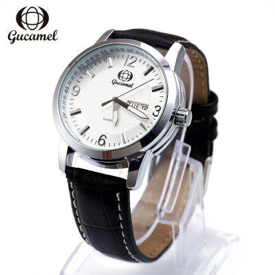 Gucamel B009 Men Quartz Watch Leather Band