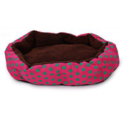 Lovely Polka Dot Lavable Lavable Pet Dog Cat Cama Casa Nest Pad