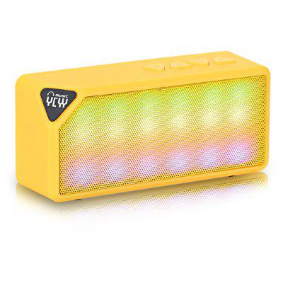 YCYY X3S 3W Multi-color Flash LED Light Wireless Bluetooth Speaker