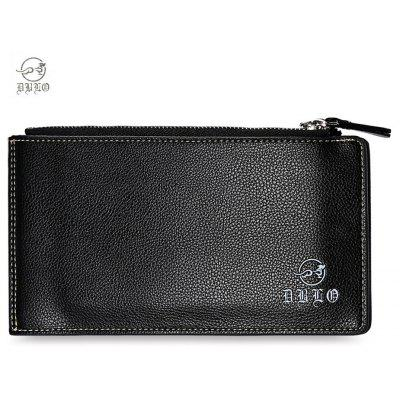DIBAOLEIOU Double Hasp Zipper Design Male Hand Bag