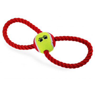 Rope Pet Dog Toy with Tennis Ball