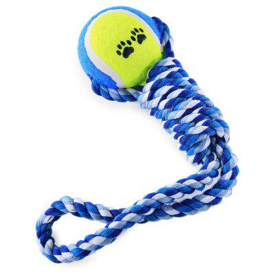 Pet Rope Toy Colorful Chew Cotton Knot with Tennis Ball