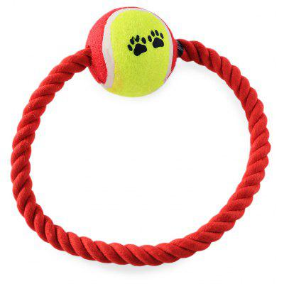 Pet Rope Toy Durable Chew Cotton Knot with Tennis Ball