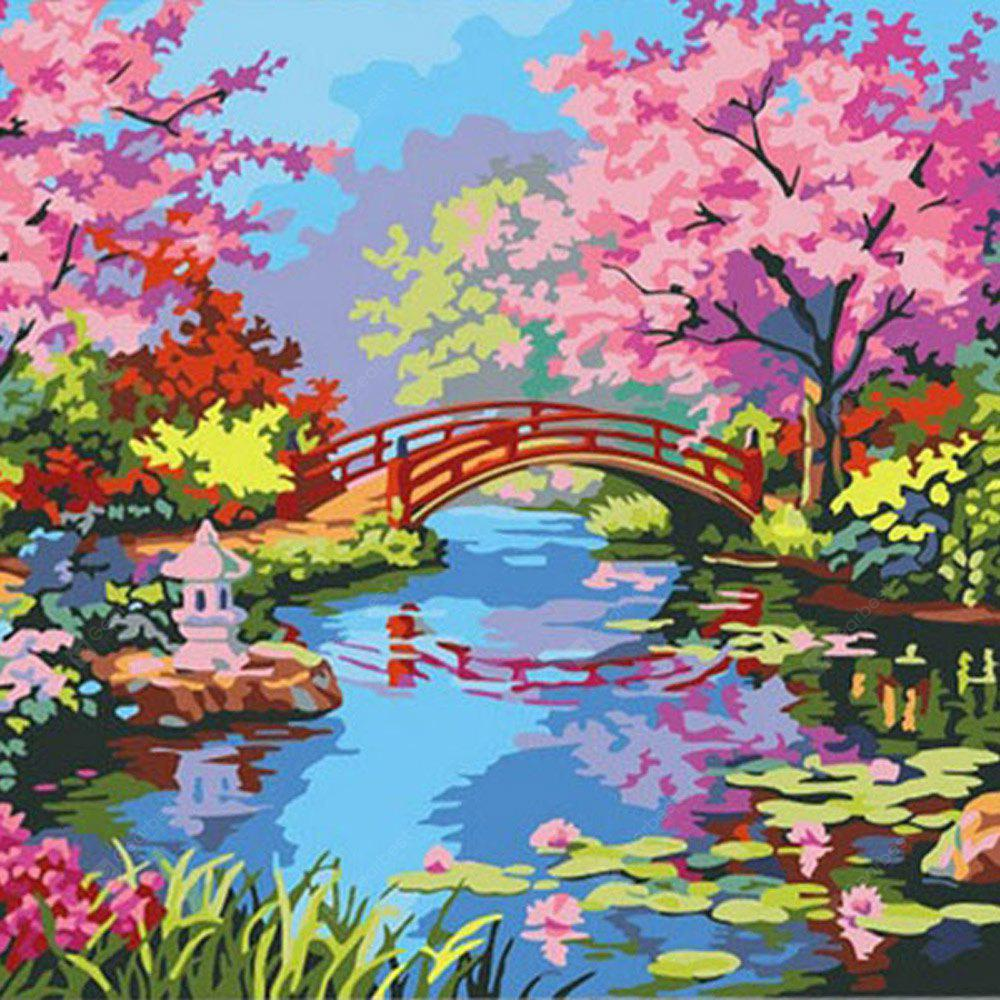 40 x 30CM Flower Bridge DIY Digital Oil Painting Wall Decor