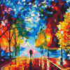 40 x 30CM Lovers DIY Digital Oil Painting Wall Decoration - COLORMIX