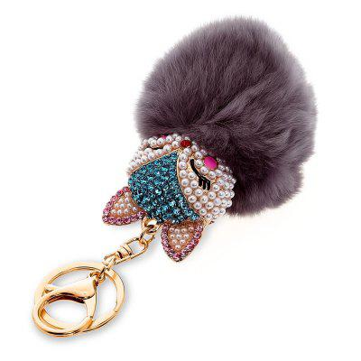 Fashion Cute Fox Fur Plush Car Keyring Keychain