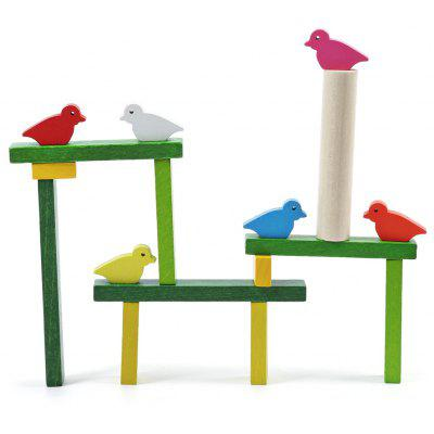Wooden Bird Balance Beam Toy