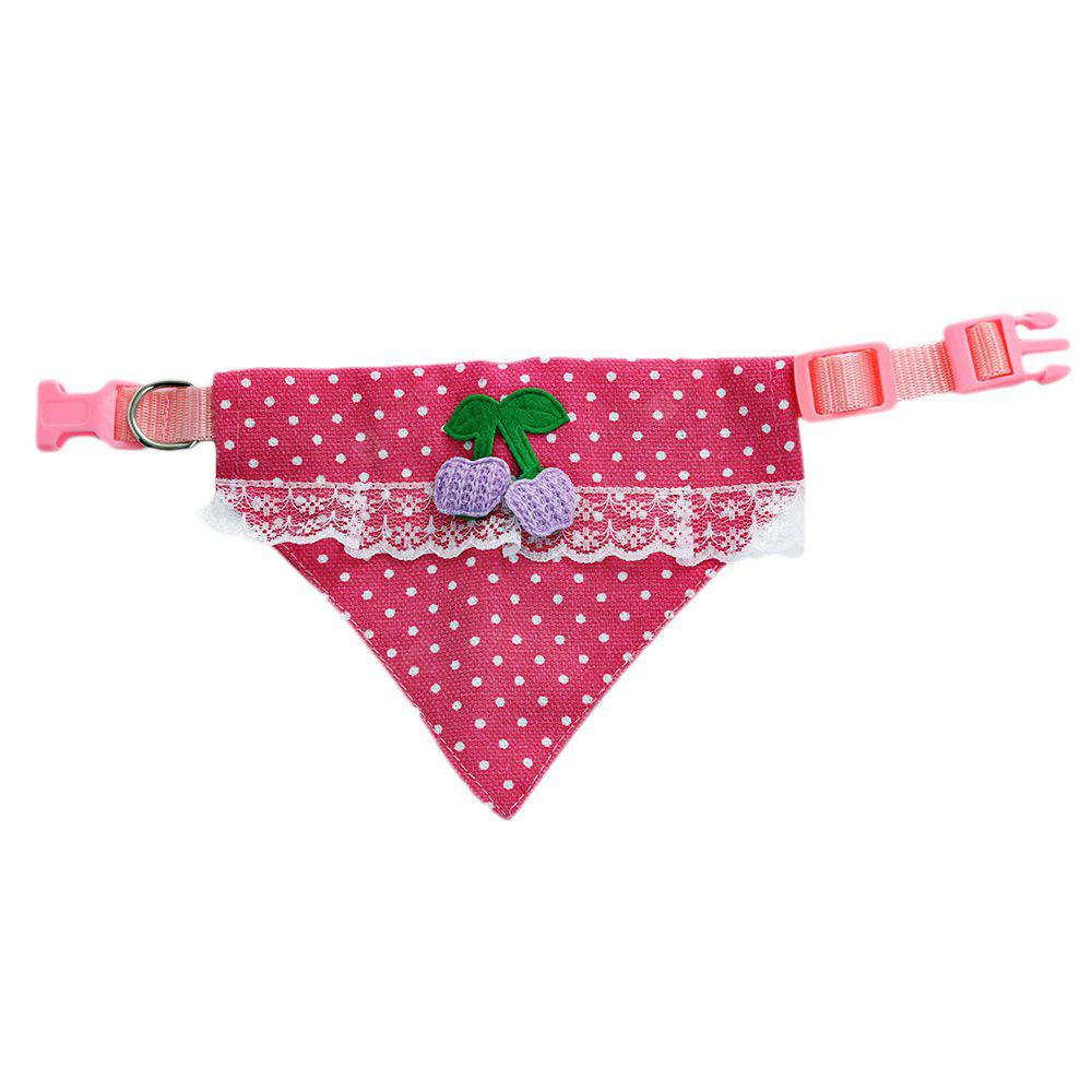 Lovely Pet Dog Cat Polka Dot Pattern Scarf Leather Collar