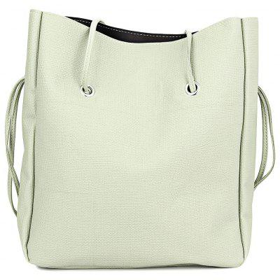 Guapabien Trendy Pure Color Multifunctional Strap Women Bucket Bag