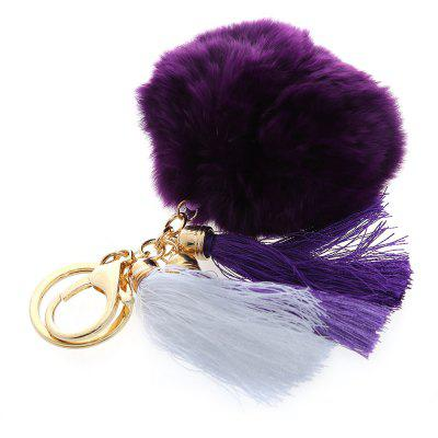Fashion Cute Rex Rabbit Plush Keychain Car Key Ring