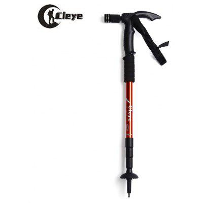 CLEYE 4 Joints Anti-shock Alpenstocks with Light